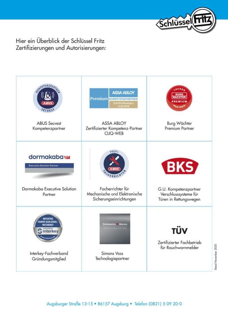 Zertifikate Autorisierungen, Stand NOV 2020